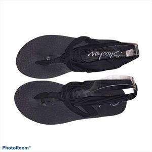 Skechers Yoga Foam Mat Black Sandals Sz 9